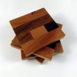 Stack of Mixed Hardwood End Grain Coasters