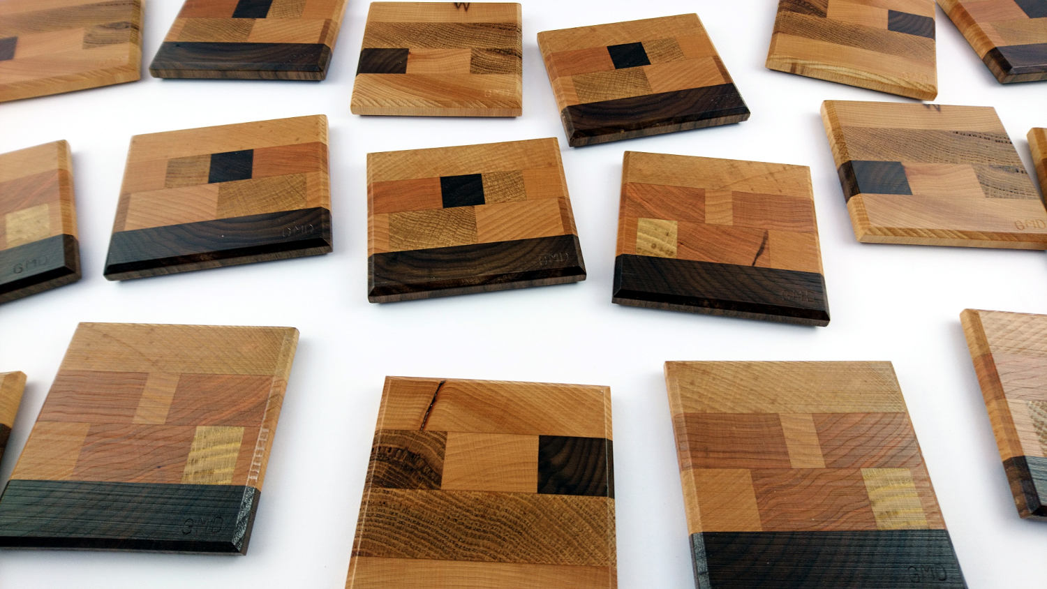 Messy Group of End Grain Coasters