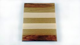 Mixed hardwood chopping board small