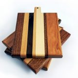 Toastie mixed hardwood chopping board messy stack