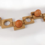 Row of Beech Egg Holders
