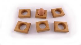 Beech Egg or Napkin Holder - Set of six