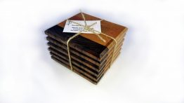 Set of Six Mixed Hardwood End Grain Coasters