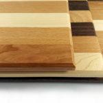 Mixed hardwood chopping board stack
