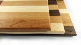 Mixed hardwood chopping board stack